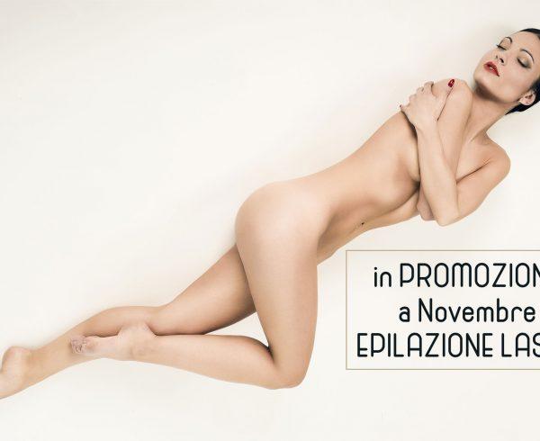 Epilazione laser permanente scontata in promozione a novembre Centro Estetico Viale Giulio Cesare Novara