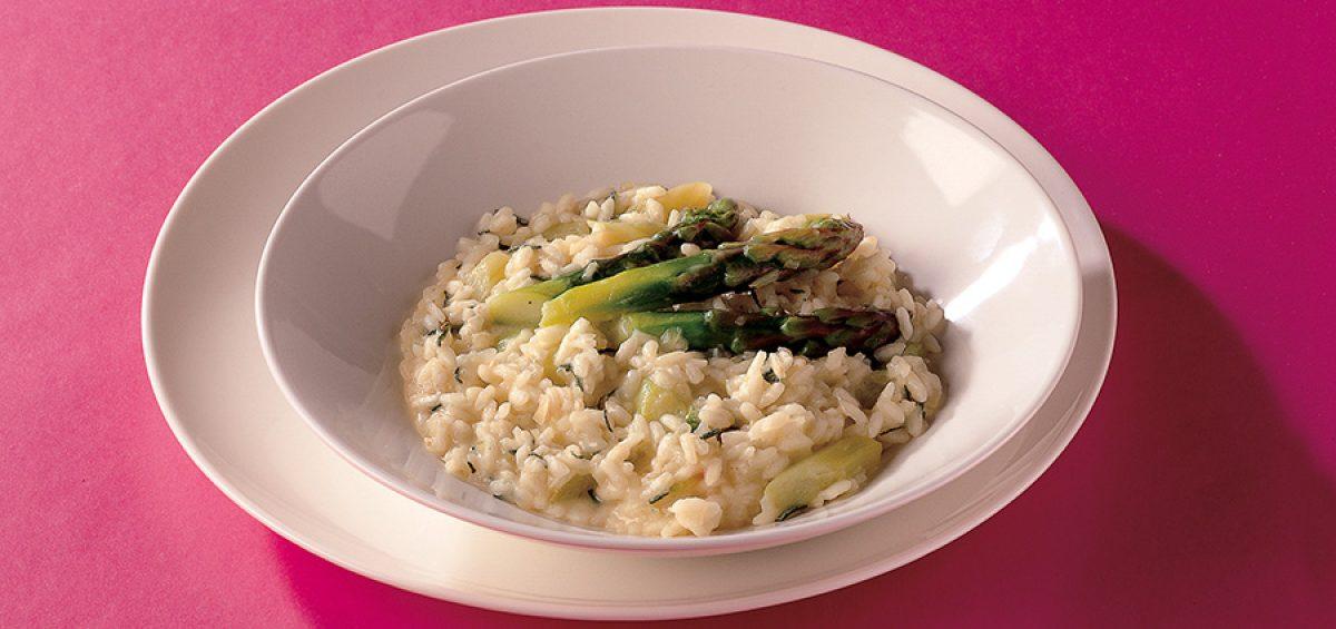 Ricetta risotto asparagi e salvia con riso due alfieri