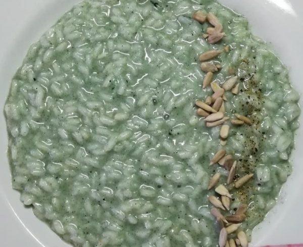 Ricetta Risotto all'Alga Spirulina con Riso due Alfieri